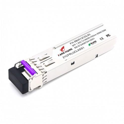 FH-SB4512CDL80| SFP 1,25 GE модуль, 80 км, SM, 1 волокно, TX/RX 1490/1550 LC, DDM