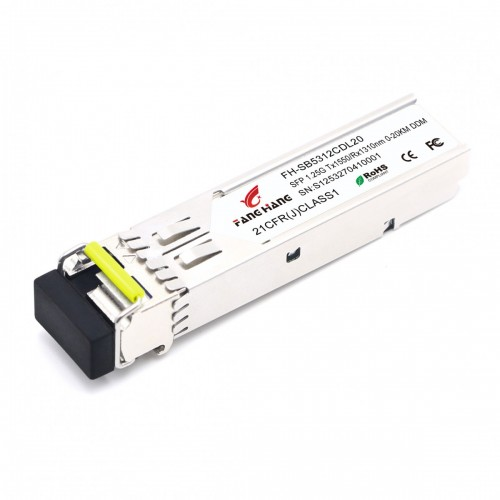 FH-SB5312CDL20 | SFP 1,25 GE модуль, 20 км, SM, 1 волокно, TX/RX 1550/1310 LC, DDM