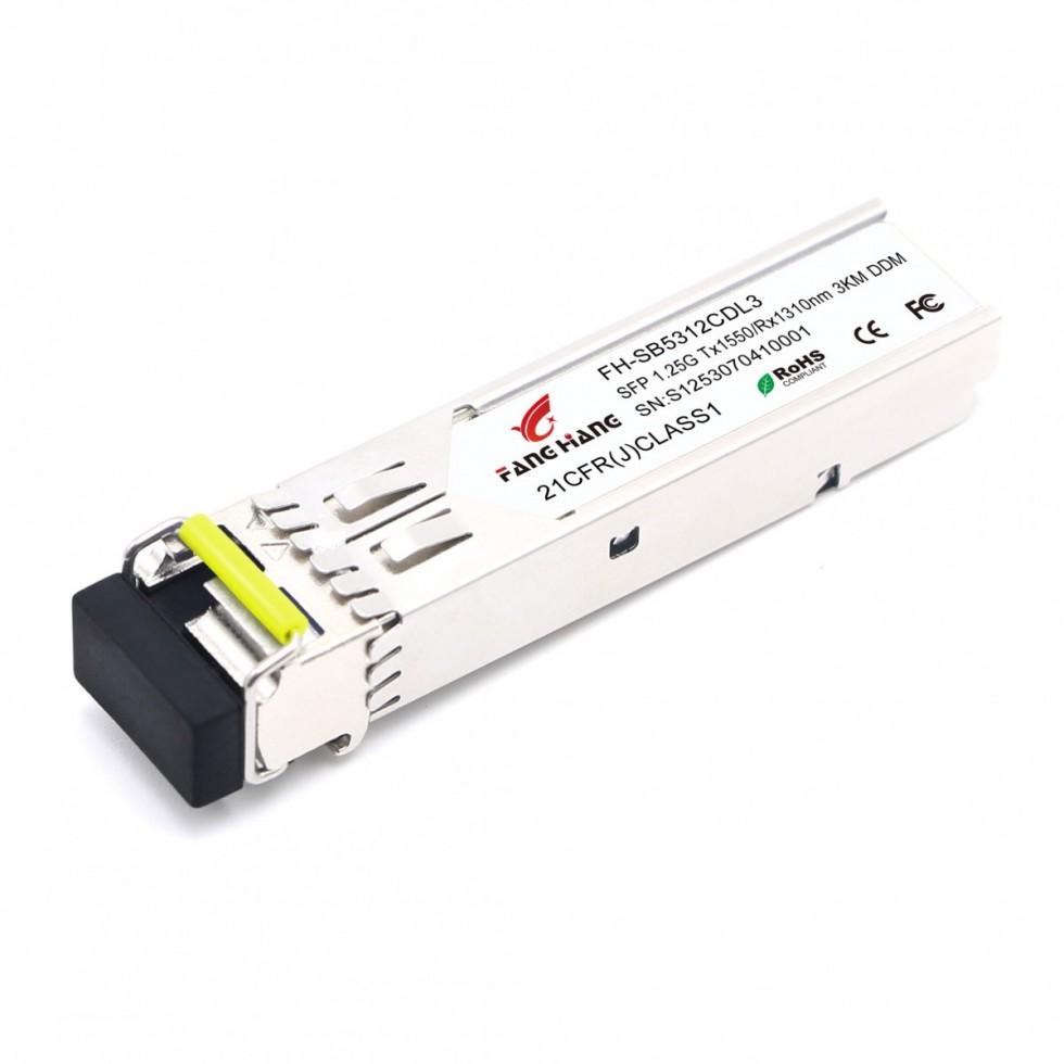 FH-SB5312CDL3 | SFP 1,25 GE модуль, 3 км, SM, 1 волокно, TX/RX 1550/1310 LC, DDM