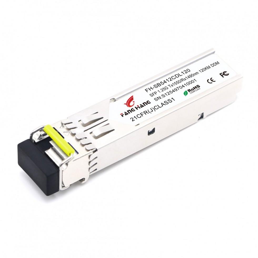FH-SB5412CDL120| SFP 1,25 GE модуль, 120 км, SM, 1 волокно, TX/RX 1550/1490 LC, DDM