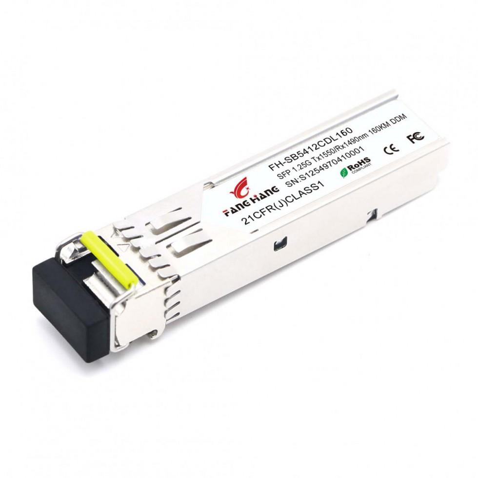 FH-SB5412CDL160| SFP 1,25 GE модуль, 120 км, SM, 1 волокно, TX/RX 1550/1490 LC, DDM