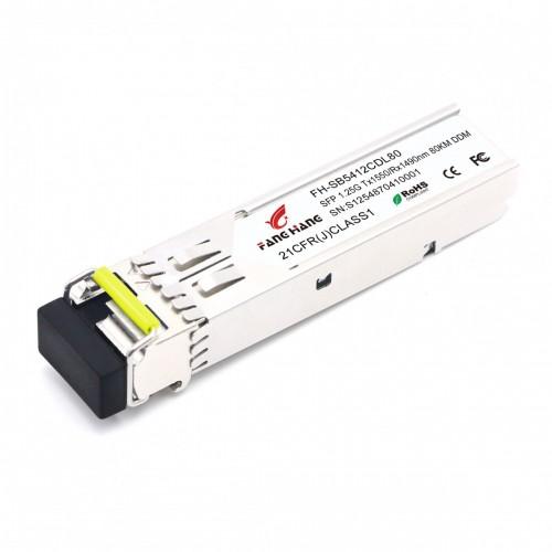 FH-SB5412CDL80| SFP 1,25 GE модуль, 80 км, SM, 1 волокно, TX/RX 1550/1490 LC, DDM