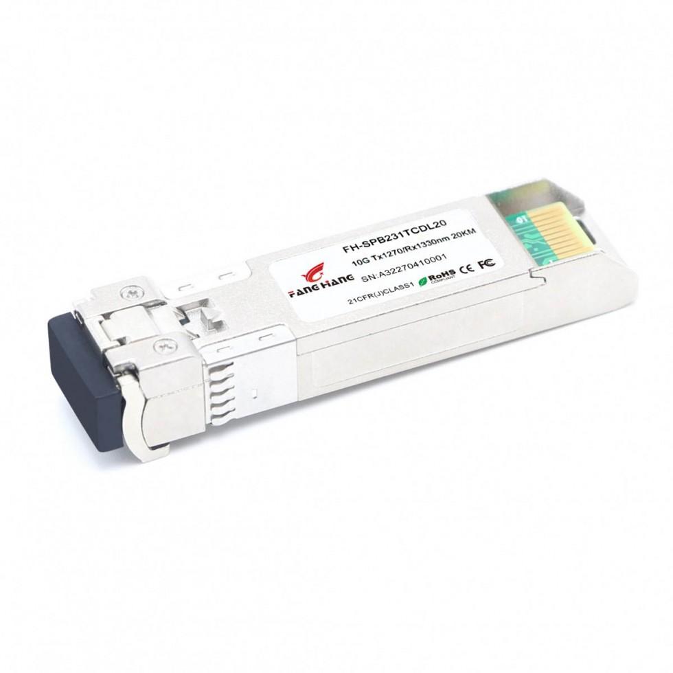 FH-SPB231TCDL20 | SFP+ 10GE модуль 20 км, SM, 1 волокно, TX/RX 1270/1330 LC, DDM
