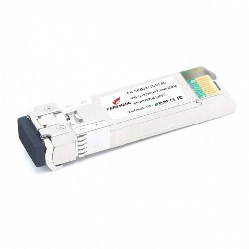 FH-SPB321TCDL60 | SFP+ 10GE модуль 60 км, SM, 1 волокно, комплект TX/RX 1330/1270 LC, DDM
