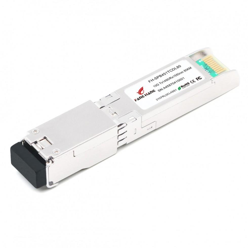 FH-SPB541TCDL80| SFP+ 10GE модуль 80 км, SM, 1 волокно,  TX/RX 1550/1490 LC, DDM