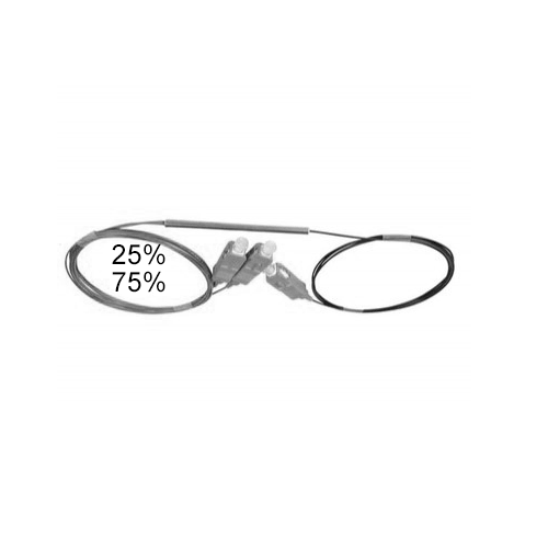 Оптический сплиттер FBT 1x2 25/75 0.9мм
